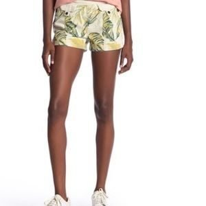 Free People Palm Springs Leaf print Shorts Size 24
